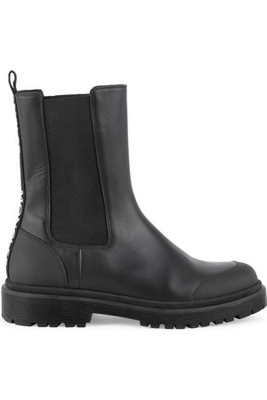 Moncler Women's Patty Lug-Sole Leather Chelsea Boots - - Size 39 (9)