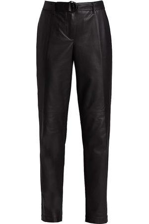 AKRIS Women's Fallon Leather Panel Pants - - Size 10