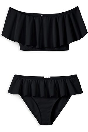 STELLA COVE Little Girl's & Girl's Off-The-Shoulder Ruffle 2-Piece Bikini - - Size 4