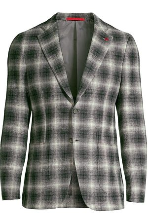 ISAIA Men's Plaid Wool & Cashmere-Blend Sportcoat - - Size 50 (40) R
