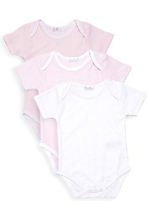 Kissy Kissy Baby Girl's Kissy Three-Piece Short-Sleeve Bodysuit Set - - Size 0-3 Months