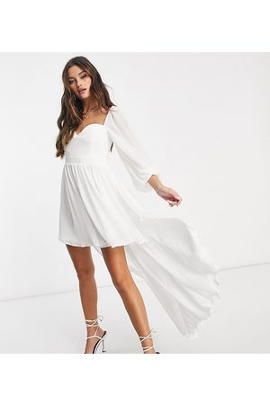 EI8TH HOUR Exclusive balloon sleeve high low dress in