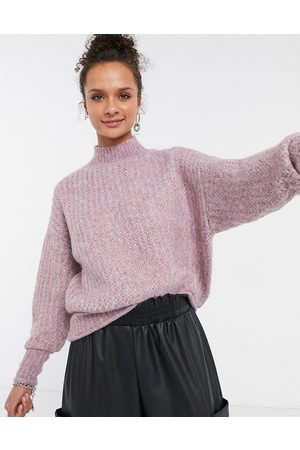 Only Sweater with high neck in lilac-Multi