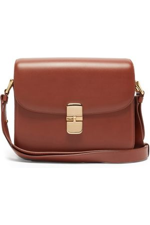 A.P.C. Women Purses - Grace Small Smooth-leather Cross-body Bag - Womens - Tan