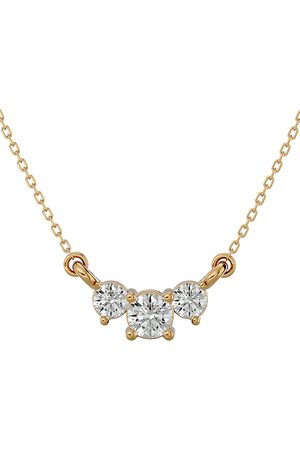 SuperJeweler 1/2 Carat Diamond Three Stone Necklace in 14K (1.75 g)