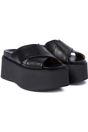 Marni Platform leather slides