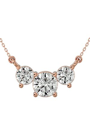 SuperJeweler 1.25 Carat Diamond Three Stone Necklace in 14K (2.50 g)