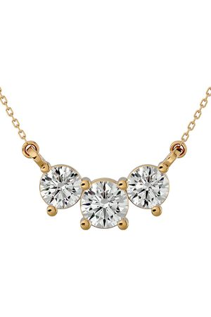 SuperJeweler 1 Carat Diamond Three Stone Necklace in 14K (2 g)