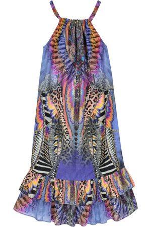 Camilla Embellished printed cotton-blend dress