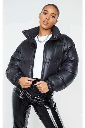 PRETTYLITTLETHING Nylon Toggle Hem Puffer Jacket