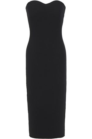 ENZA COSTA Woman Strapless Ribbed Jersey Midi Dress Size S