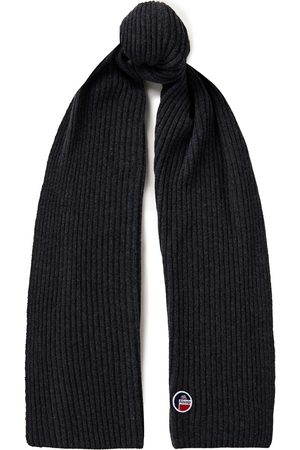 Fusalp Woman Ribbed Merino Wool And Cashmere-blend Scarf Dark Size