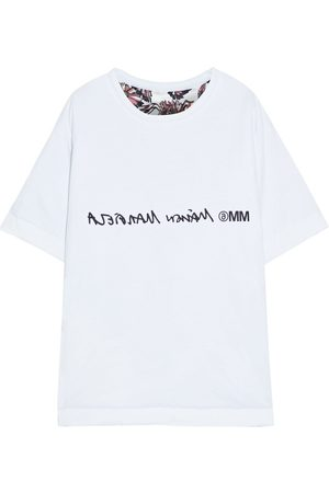 MM6 MAISON MARGIELA Woman Oversized Reversible Printed Cotton-jersey And Satin T-shirt Size S
