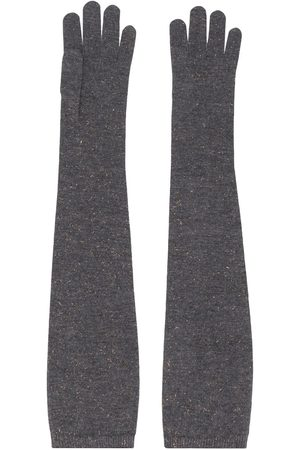 Brunello Cucinelli Elbow-length gloves - Grey