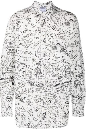 MARCELO BURLON Sketches long-sleeve shirt