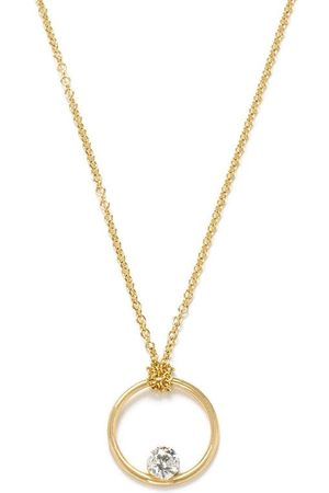 The Alkemistry Women Necklaces - 18kt yellow floating diamond necklace