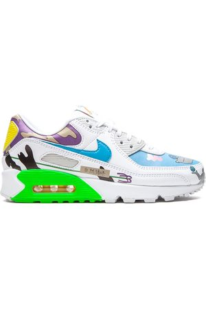 "Nike Flyleather Air Max 90 QS ""Ruohan Wang"" low-top sneakers"