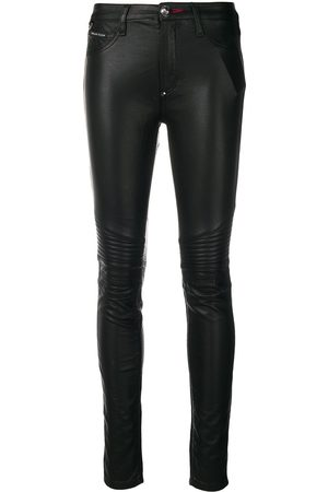Philipp Plein Faux leather skinny trousers