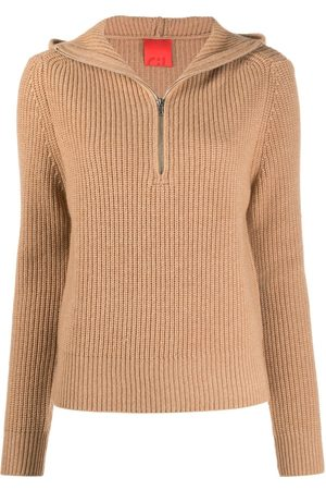 Cashmere In Love Women Hoodies - Ribbed-knit hoodie