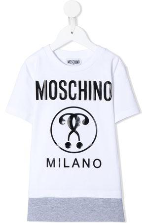 Moschino Layered logo print T-shirt