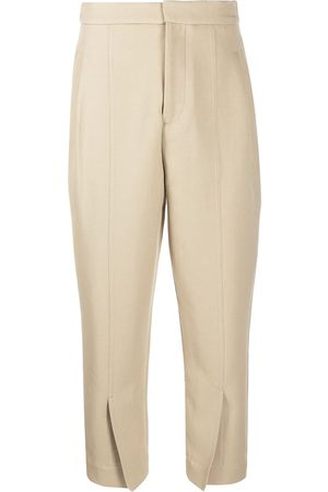 Colville Straight-leg cropped trousers - Neutrals