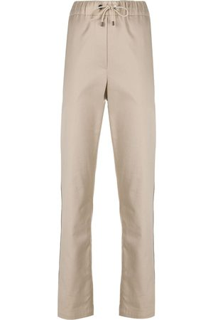 Brunello Cucinelli Drawstring cotton trousers - Neutrals