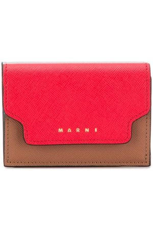 Marni Contrast fold-over purse - Grey