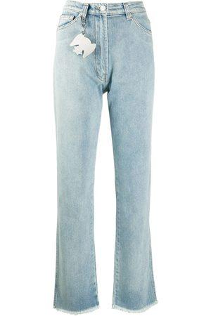 Natasha Zinko Frayed flared jeans