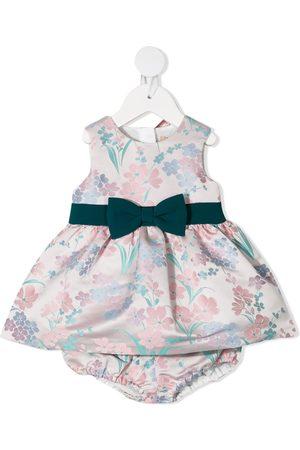 HUCKLEBONES LONDON Baby Printed Dresses - Floral-jacquard sleeveless dress