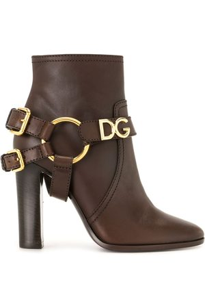 Dolce & Gabbana DG buckled ankle booties