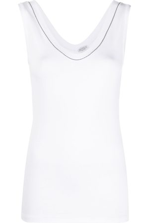 Brunello Cucinelli Crystal-detail vest top