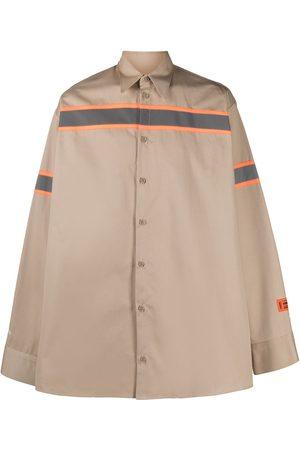 Heron Preston Stripe-print button-up shirt