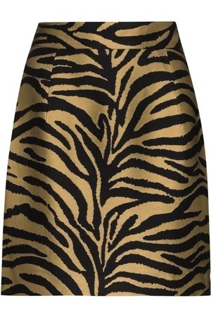 Khaite Eiko zebra-print mini skirt