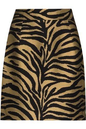 KHAITE Women Printed Skirts - Eiko zebra-print mini skirt