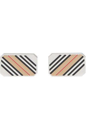 Burberry Icon stripe cufflinks - Neutrals