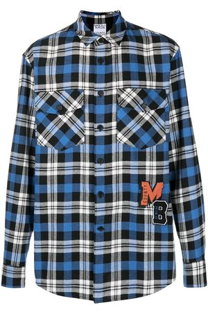MARCELO BURLON MB College check shirt