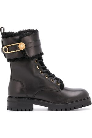 VERSACE Women Outdoor Shoes - Safety-Pin detail 40mm hiking boots