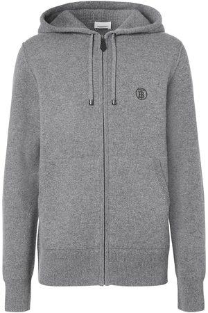 Burberry Men Hoodies - Monogram motif cashmere hoodie - Grey