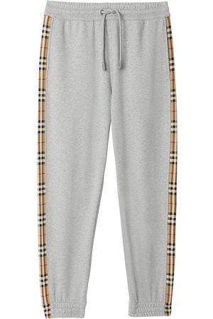 Burberry Vintage check panel track pants - Grey