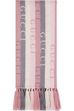 Gucci Women Scarves - Logo-stripe wool scarf