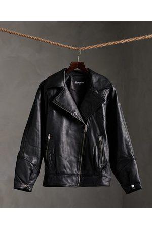 Superdry Edit Hybrid Leather Biker Jacket