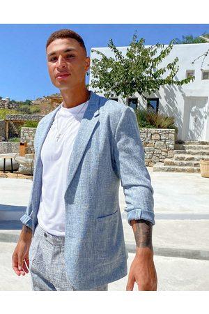 ASOS Blazers - Skinny soft tailored blazer in crosshatch