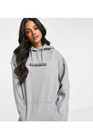 Napapijri Box hoodie in Exclusive at ASOS-Grey
