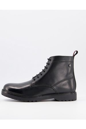 Base London Forge lace up boots in waxy leather