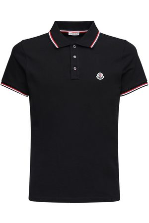 Moncler Logo Patch Cotton Piqué Polo Shirt