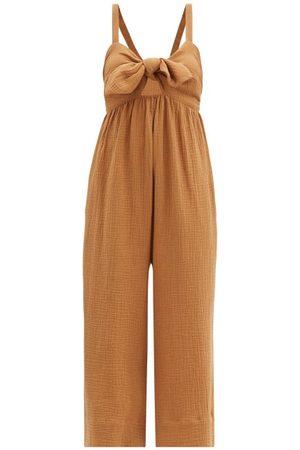 Loup Charmant Women Jumpsuits - Triton Organic-cotton Jumpsuit - Womens - Camel