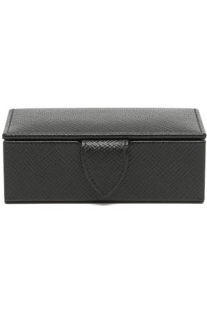 SMYTHSON Panama Mini Leather Cufflink Box - Mens