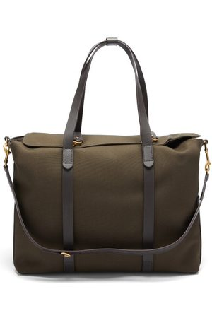 Mismo Men Luggage - Mega Tote Two-in-one Canvas & Leather Holdall - Mens - Dark