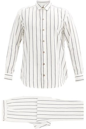 P. Le Moult Men Pajamas - Striped Cotton Pyjamas - Mens - Multi
