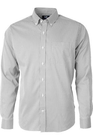 Cutter & Buck Men's Versatech Pinstripe Classic Fit Button-Up Performance Shirt